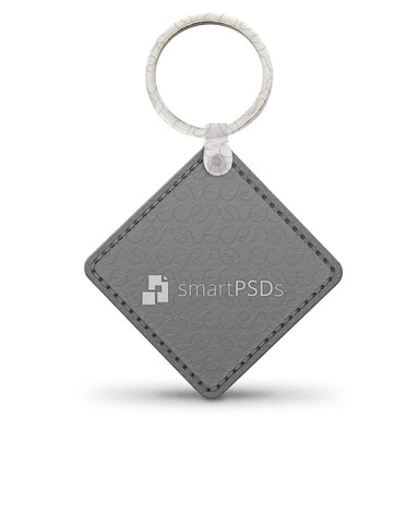 Leather (Diamond) KeyChain Design Mockup