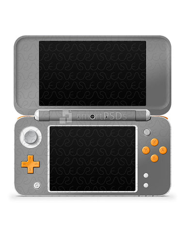 Nintendo 2DS XL 2017 Vinyl Skin Design Template Full Wrap (4 Views)