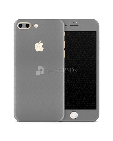 Apple iPhone 7 Plus Mobile Skin Design Template Front-Back