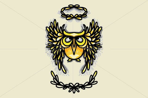 Angel Owl - Creative Graphic of Bird