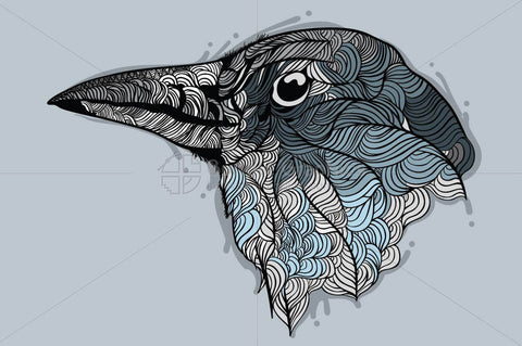 Raven - Vector Graphic Image of Bird