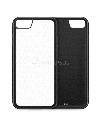 Apple iPhone 8 2d Rubber Flex Mobile Case Design Mockup 2017