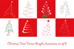 Christmas Celebration Pattern - Scribble Vector Graphic Iconic Background