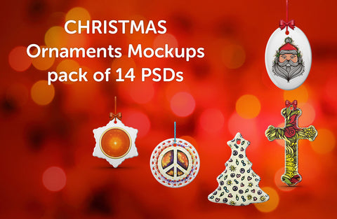 Christmas Ornaments Design Mockups Pack