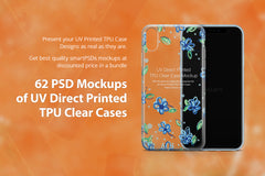 62 Mockups Bundle of UV TPU Clear Cases for Mobiles