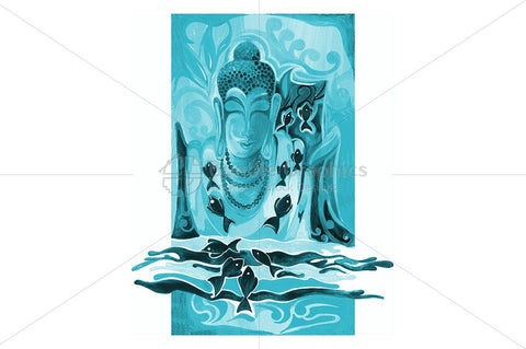 Lord Buddha - Abstract Painting