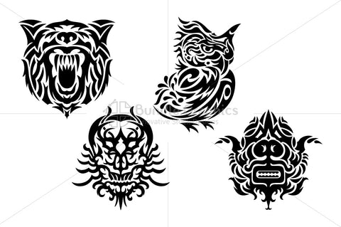 Royalty Free Tribal Black Vector Set