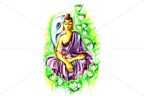 Abstract Painting of Lord Buddha