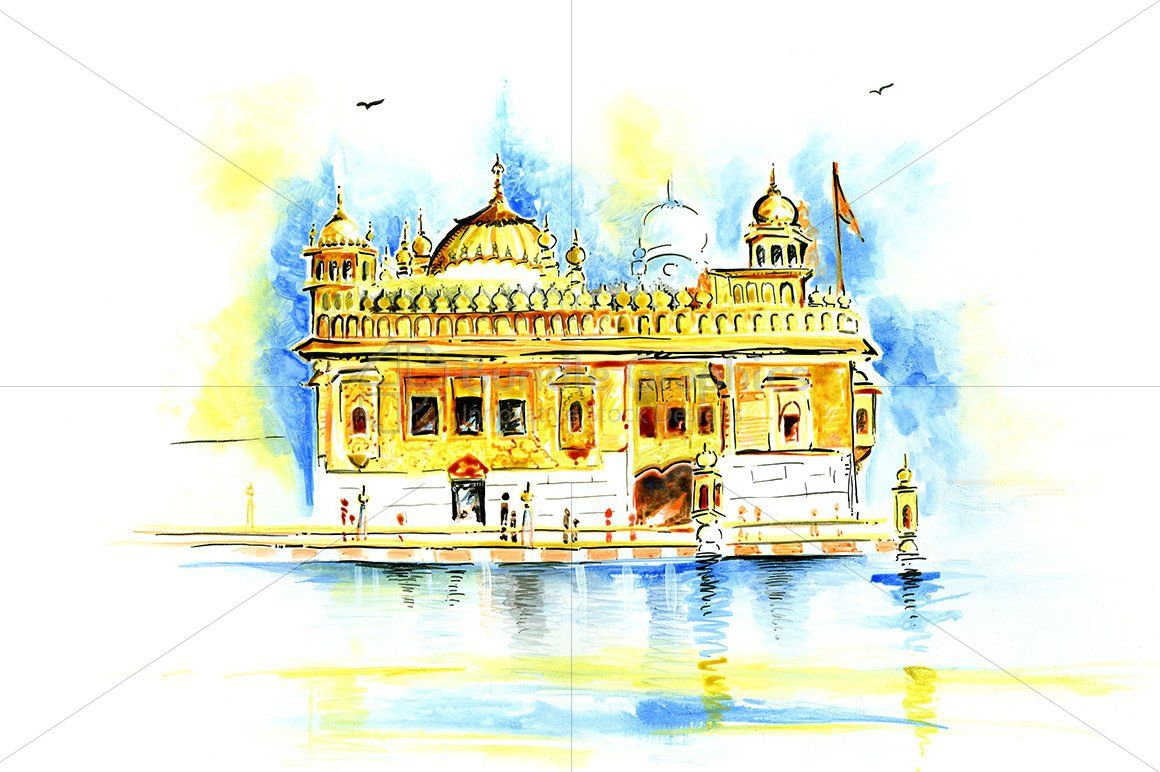Abstract Painting of Golden Temple
