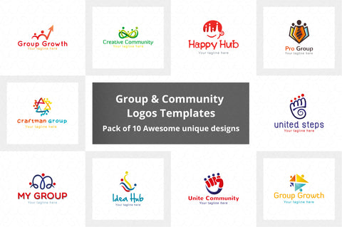 Common Group & Community Logo  Pack of 10 Awesome unique designs