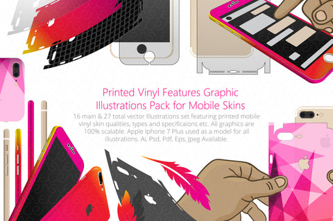Vinyl Skins Feature Graphics Illustrations Pack