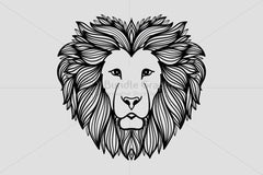 Artistic Mirror Graphics of Wild Animal Lion