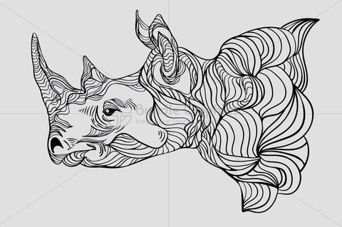 Rhinoceros - Wild Animal Creative Graphics