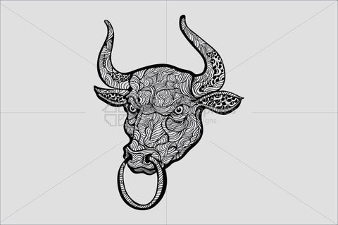 A Bull - Linear Style Aggressive Animal