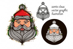 Santa Claus Vector Graphic illustration
