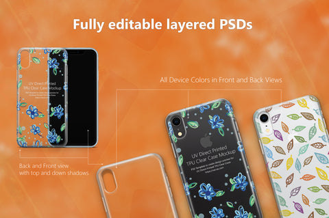 62 Mockups Bundle of UV TPU Clear Cases for Mobiles in 2018