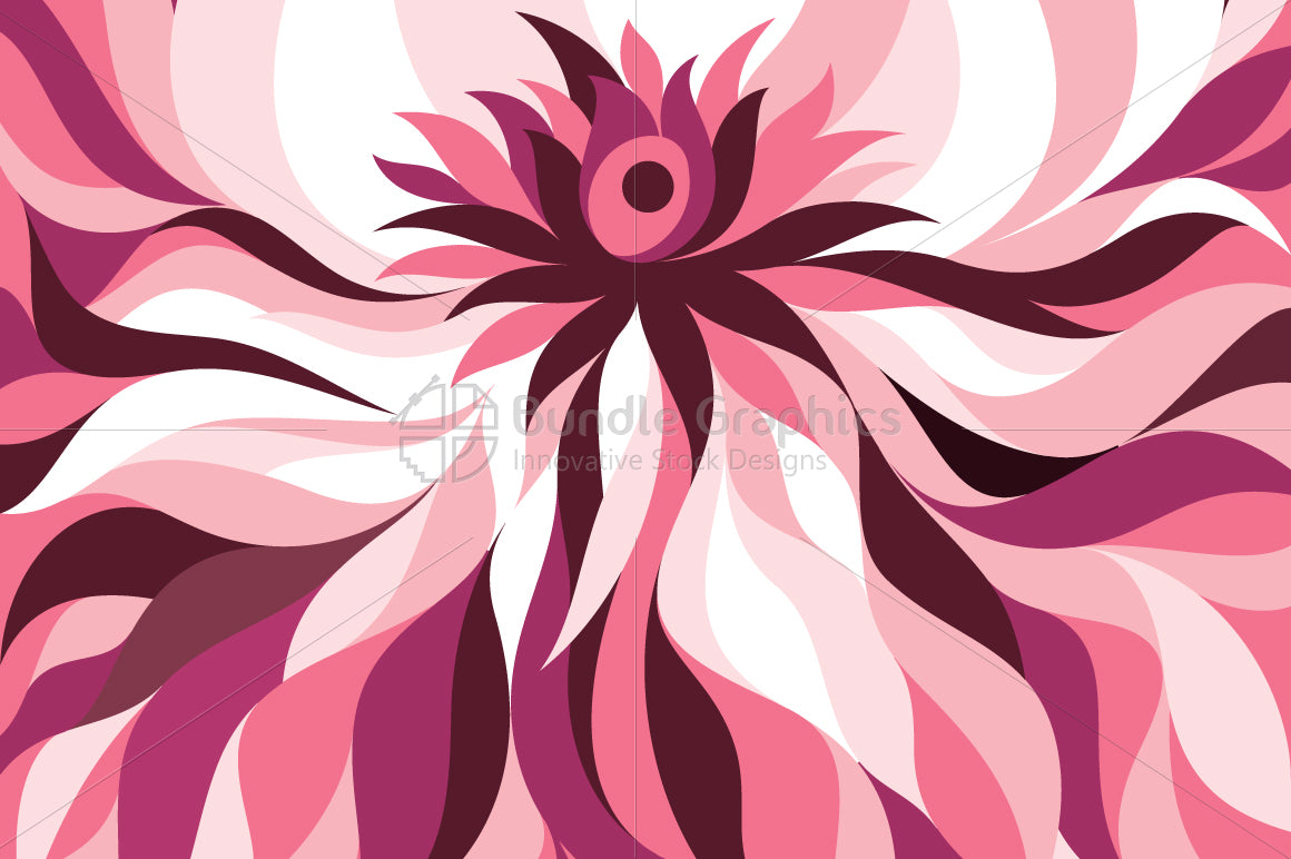 Lotus Flower Abstract Monotone Background