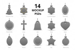 Christmas Ornaments Design Mockups Pack-
