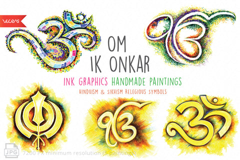Handmade Paintings pack of 52 Relegious Collection
