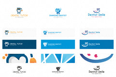 Dental Logos Templates Pack of 10 Awesome unique designs
