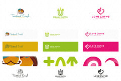 Matrimony Stock Logo Templates Pack of 10 Awesome unique designs