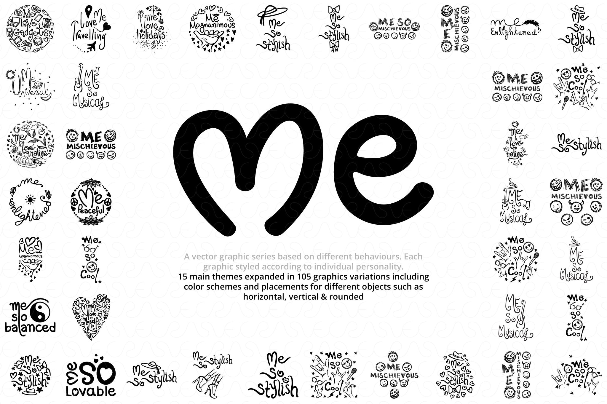 """Me"" Graphics Series Vector Bundle"
