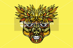 Tribal Face - Artistic Design Composition