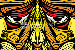 Tribal Human Face - Illustrative Design Composition