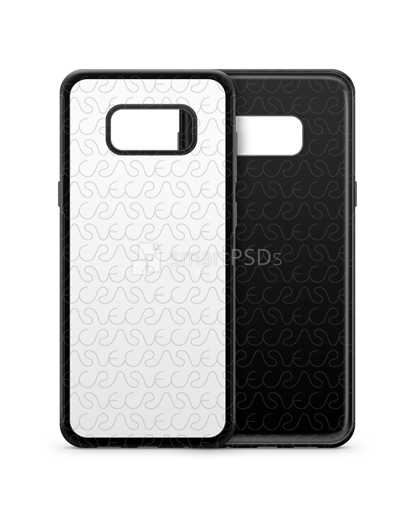 Galaxy S8-S8 Plus 2d Rubber Phone Cover Design Template