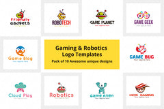 Gaming & Robotics Logo Templates Pack of 10 Awesome unique designs