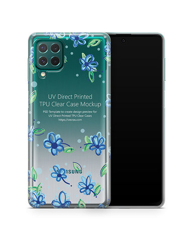Samsung Galaxy M62 (2021) TPU Clear Case Mockup
