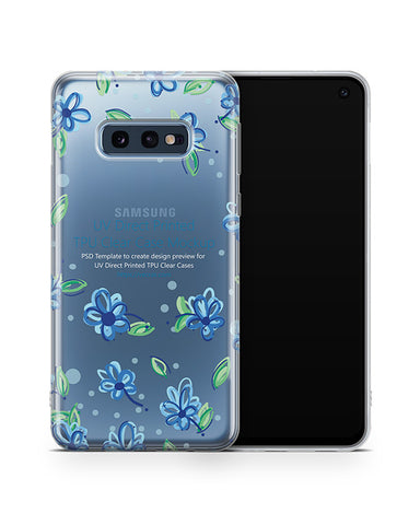 Samsung Galaxy S10 E UV TPU Clear Case Mockup 2019