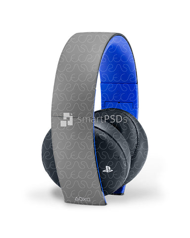 Sony PS Wireless Headset 2.0 Skin Design Template 2 Views