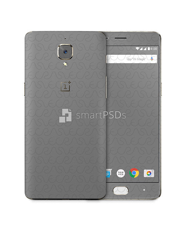 OnePlus 3 Mobile Skin Design Template