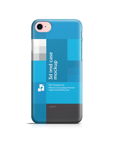 iPhone 7 3d IMD Phone Cover Design Template (Back)