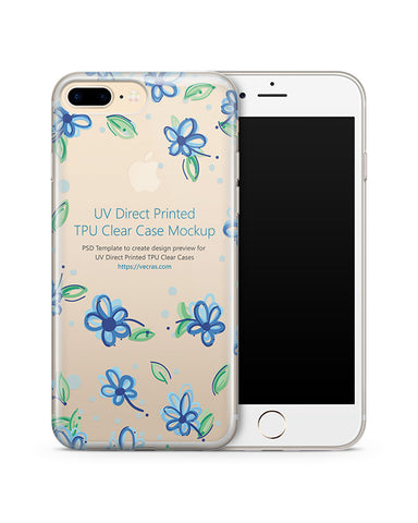 Apple iPhone 7 Plus TPU Clear Mobile Case Design Mockup 2016
