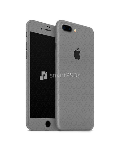 Apple iPhone 7 Plus Mobile Skin Design Template (Front-Back Angled)