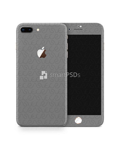 Apple iPhone 8 Plus Vinyl Skin Design Mockup 2017