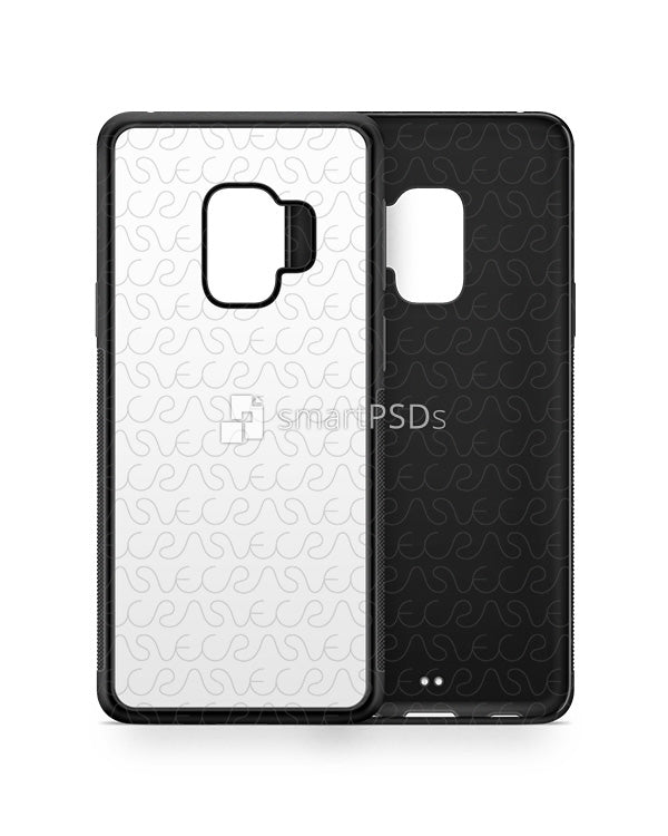 Samsung Galaxy S9 2d RubberFlex Case Design Mockup 2018
