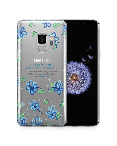 Samsung Galaxy S9 UV TPU Clear Case Design Mockup 2018