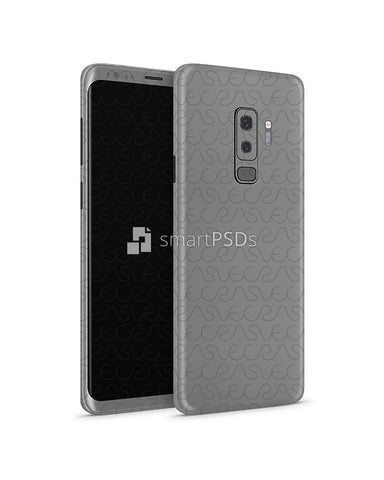 Samsung Galaxy S9 Plus Vinyl Skin Design Mockup 2018 (Front-Back Angled)