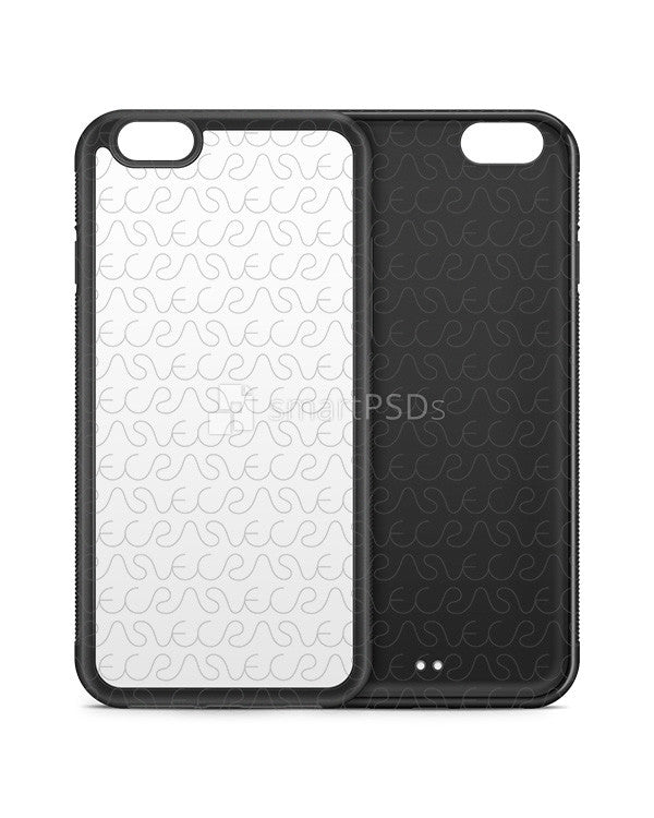 iPhone 6-6s 2d Rubber Phone Cover Design Template (V2- 3 Views)