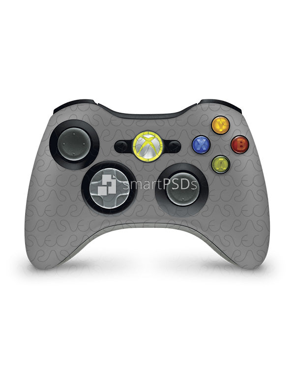 Next smart psd mockup to make a vinyl skin design preview for microsoft xbox 360 controller