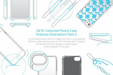 2D PC Colored Case Features Pack-2