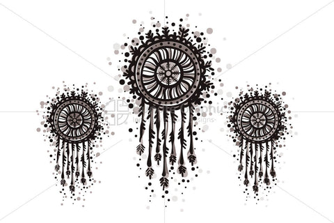 Dream Catcher - Freehand Organic Shapes Decorative Graphics