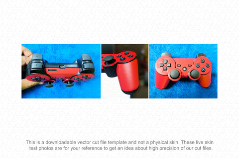 Sony PS3 Dual Shock 3 Wireless Controller (2008) Vector Cut File Template