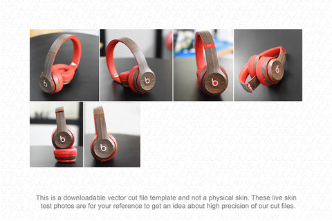 Beats Solo 2 Wireless On-Ear Headphones (2015) Skin Cutting Template