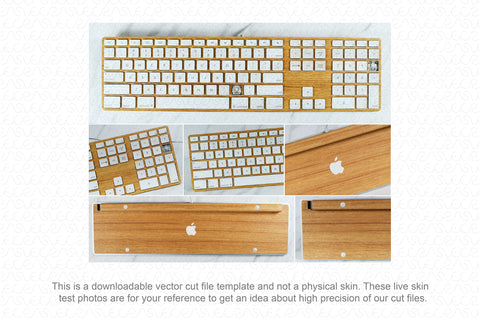 Apple Wired Keyboard 2003 Wrap Template Cut File