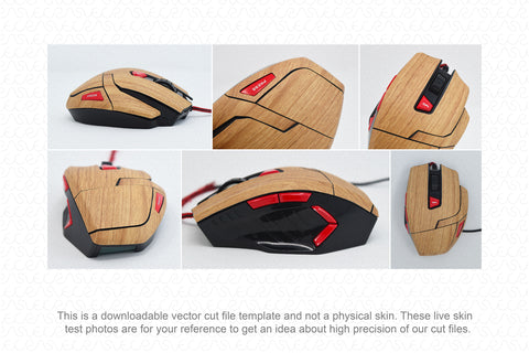 Lenovo M600 USB 2.0 Wired Gaming Mouse (2015) Wrap Template Cut File
