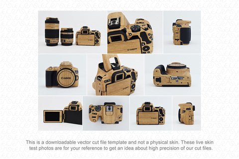 Canon EOS 200D II DSLR Camera 2019 Skin Vector Template